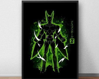 Perfect Cell - Dragonball Z Minimalist Art Print - (Available In Many Sizes)