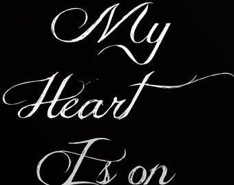My heart is on fire   instant download  digital print
