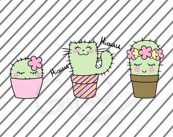Sweet Cacti (plot file, plotter, DXF)