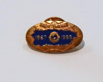9dc3fe8b573 Vintage Lions Club Pin, 100% Attendance, 1967 - 1968 (#68)