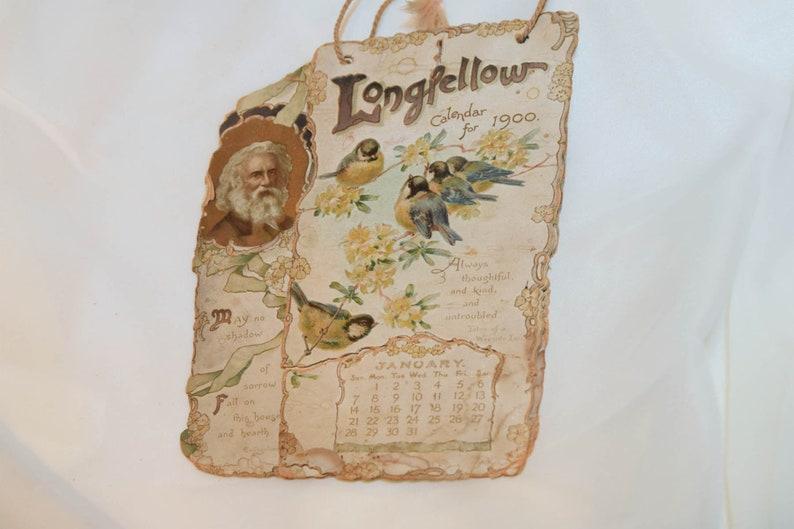 Calendario 1900.Calendario Di Longfellow Per 1900 Fustellate In Rilievo Calendario Dell Annata Ephemera N 201
