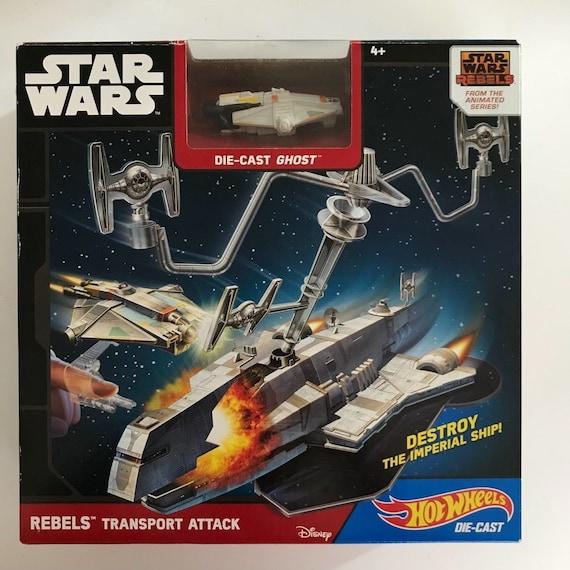 Hot Wheels Star Wars Rebels Ghost Starship Diecast Vehicle Toy