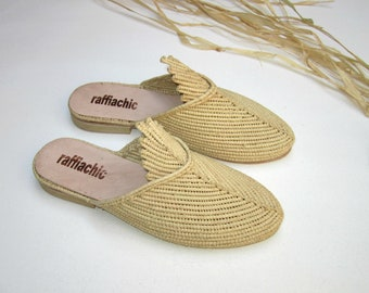 39859a7546d1 Moroccan handmade shoes made of natural raffia