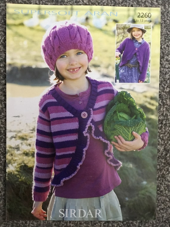 ef29caed69f6 Sirdar Supersoft DK knitting pattern 2260 girls cardigan