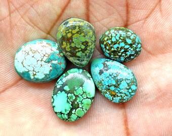 5 Pcs Natural Turquoise Lot, Rare Tibetan turquoise Gemstone, Beautiful Tibetan turquoise Gemstone, turquoise Stone lot, Wholesale Turquoise