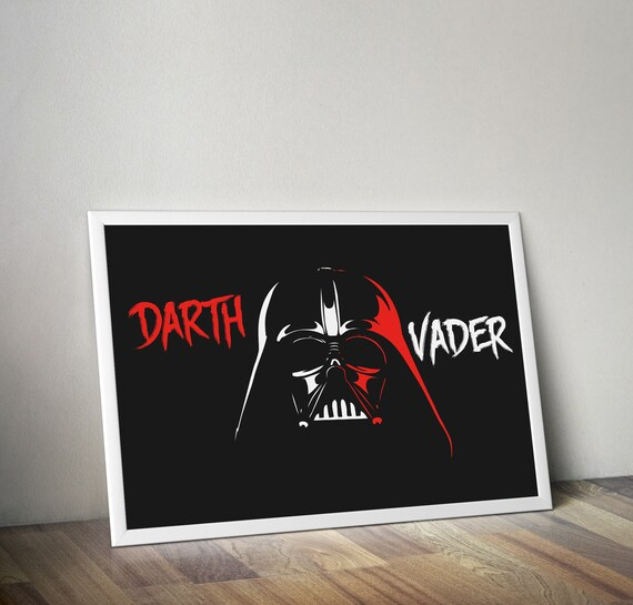 Star Wars Anakin Skywalker Darth Vader Art Deco Poster A3 A1 A2 A4 sizes