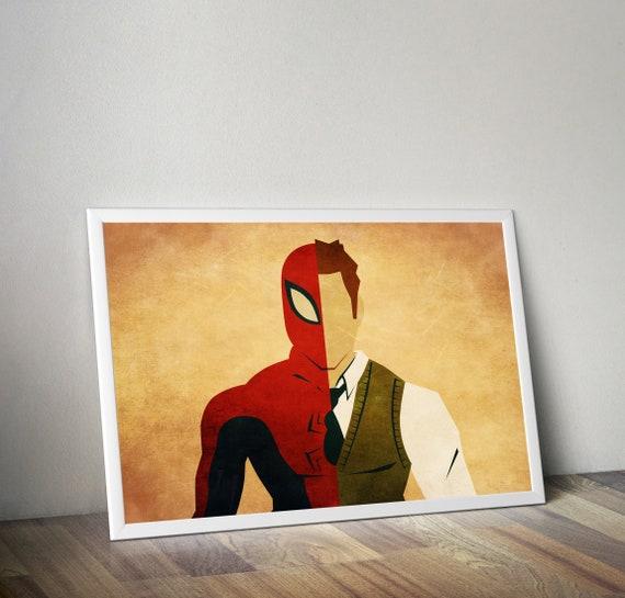 Spider Man Marvel Movie Poster Kids Decor Spider Man Homecoming Marvel Spider Man Art Print Man Cave Superhero Spiderman Print
