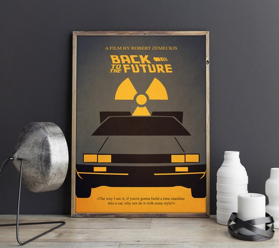 BACK TO THE FUTURE Poster A3 A4 Robert Zemeckis Classic Movie Art Print Decor