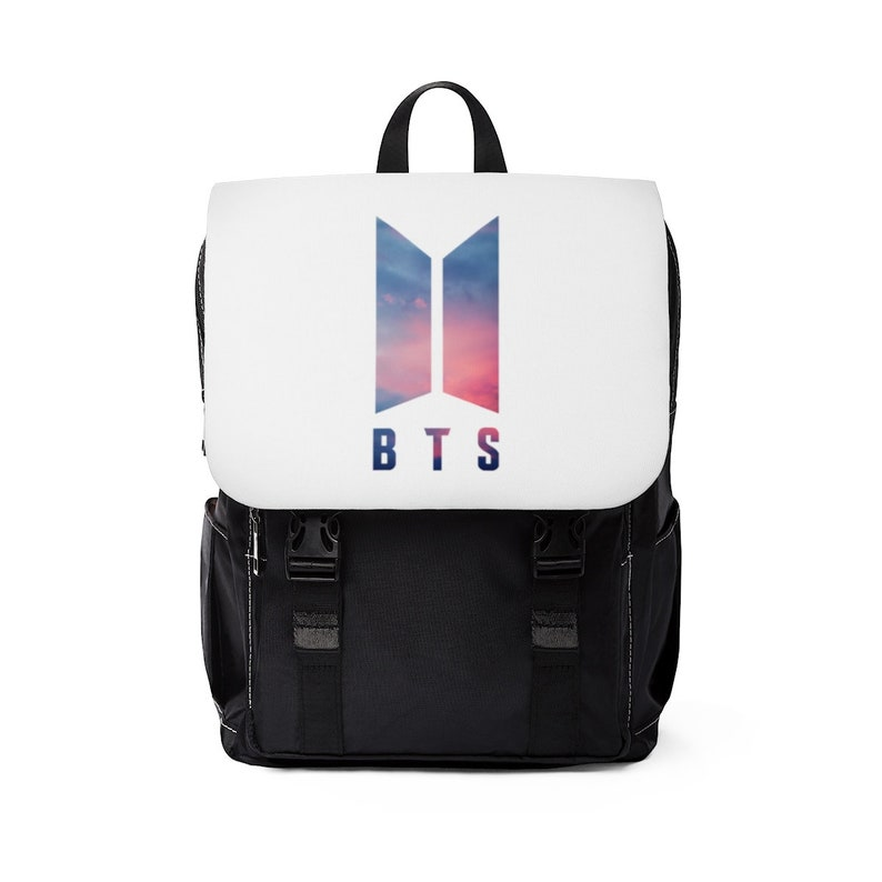 Bangtan Boys Love Yourself Logo Unisex Casual Shoulder Backpack Soneyondan BTS Kpop Merchandise Birthday Gift Ideas