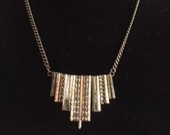 Multi metal necklace, 18.5 inches