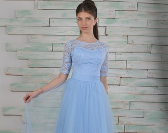 7f480b403a39c Blue wedding dress