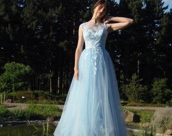 0c71cc13493 color wedding dress blue wedding dress white Boho dress lace Tulle dress  Bridesmaid dress Bohemian bridal gown Dress for wedding Tulle dress