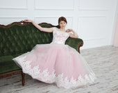 Lavender wedding dress Lace wedding dress Tulle gown Dress for bridesmaids