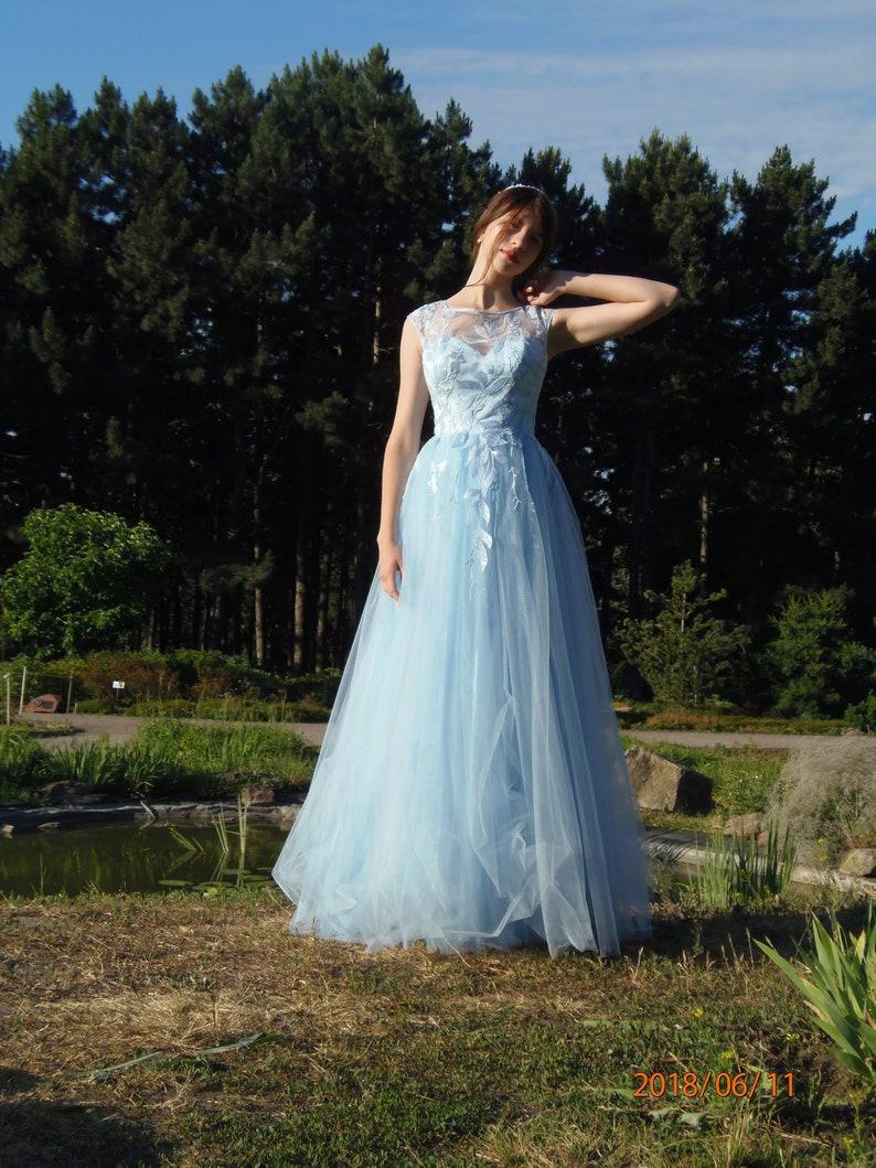 52eb5395fe8 Color wedding dress blue wedding dress white Boho dress lace