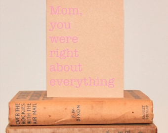 Mother's Day Card | From Son or Daughter