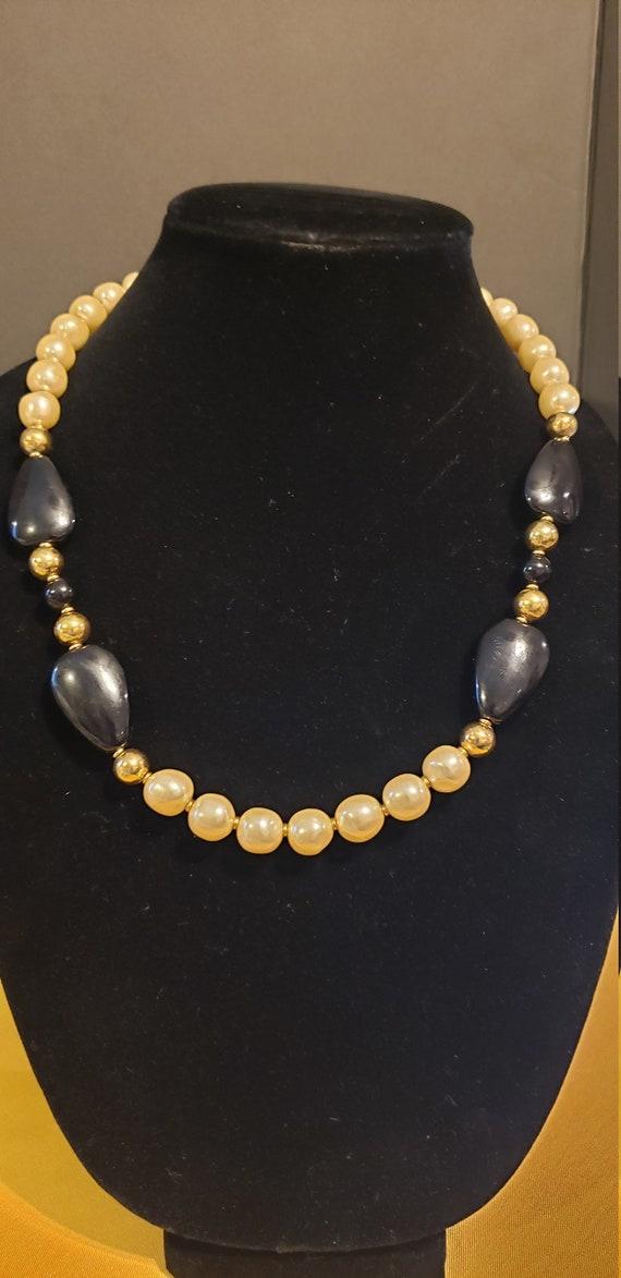 Vintage Napier Faux Pearl Necklace - image 2