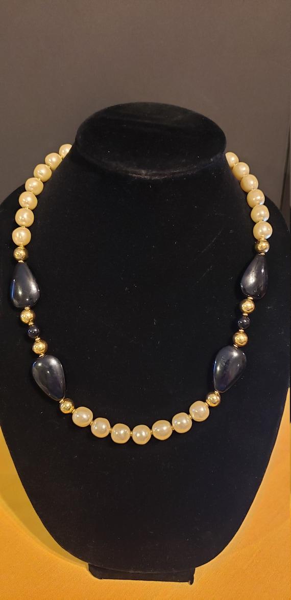 Vintage Napier Faux Pearl Necklace - image 1