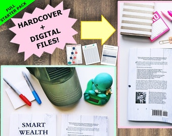 Full Smart Wealth Starter Pack with Book, debt payoff, budget planner, monthly budget, finance planner, debt tracker, savings, finance book