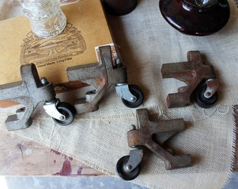 Set of 4 Unique Industrial Caster Wheels
