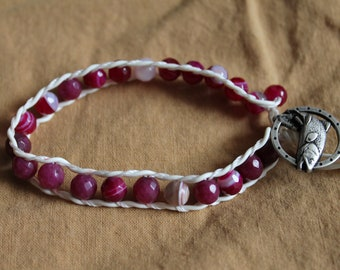 Agate Beads With Recycled Fishing Line