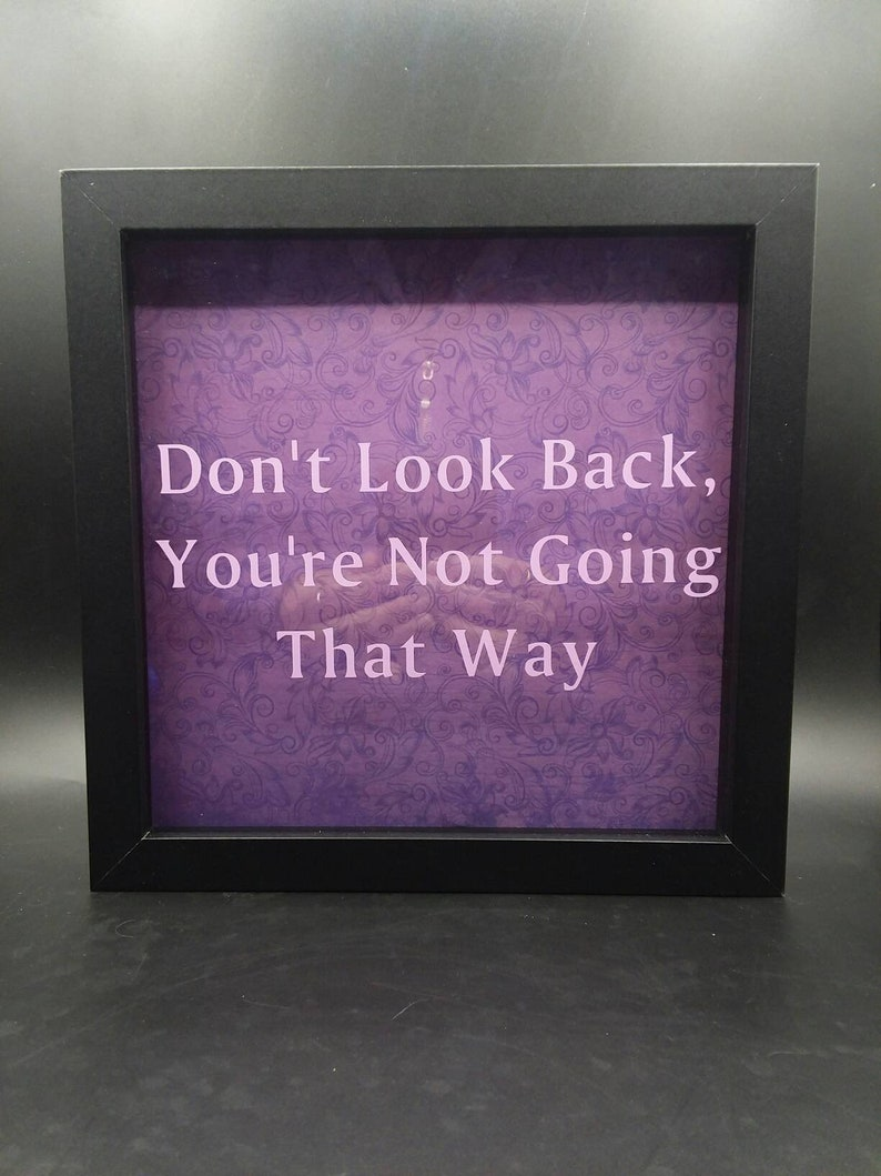 Inspirational Quote Shadow Box Wall Art Dont Look Back Etsy