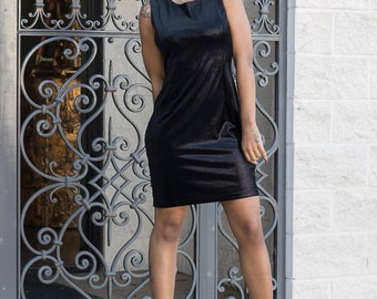 Little Black Dress Vintage 80s Dress