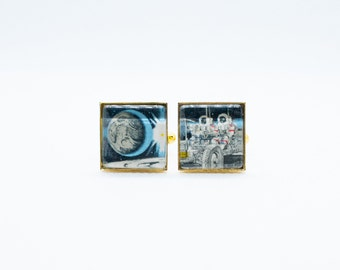 Space Shuttle on the launch pad cufflinks    NOV-SPA0004