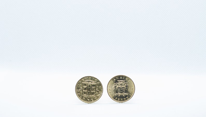 Jamaica Half Penny Two Type Coin Cufflink