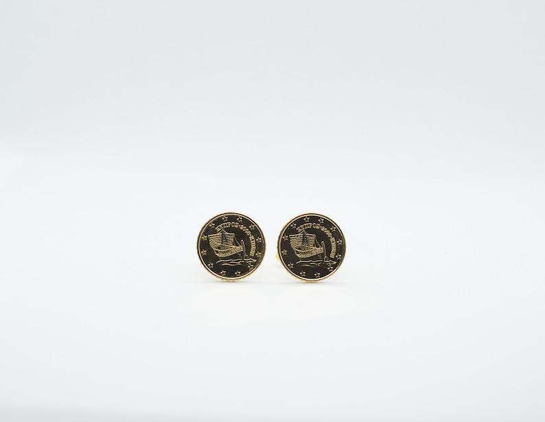 Cyprus 10 Euro Cent Coin Cufflinks
