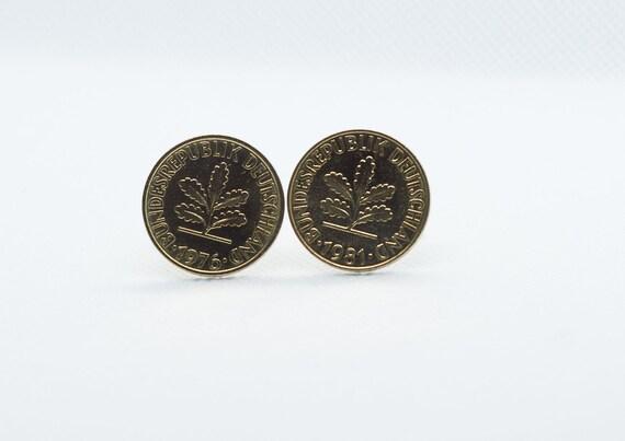 Germany Euro Brandenburg 10 Cent Coin Cufflinks