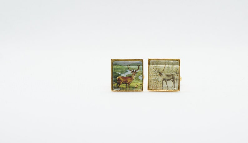 Canada Deer Paper Cufflinks