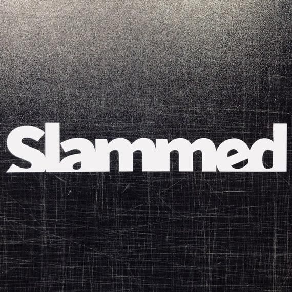 "Static decalCar Stance Slammed Sticker 7/"" lowered JDM Euro"