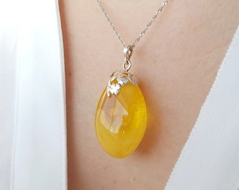 White Amber Pendant Not Modified Amber Unique White Royal Amber 12g Genuine Amber