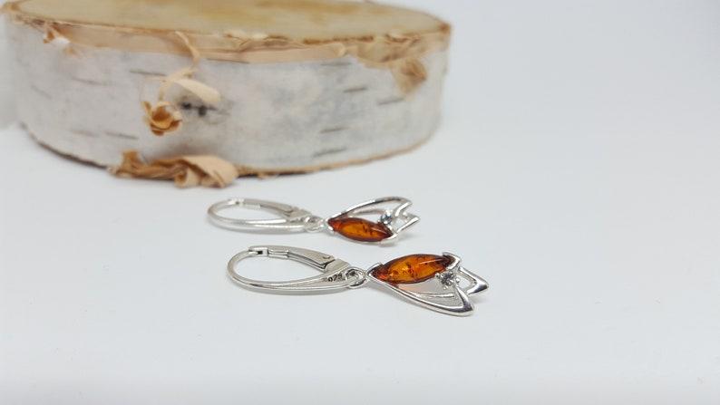 Small Amber Earrings Marquise Amber Earrings Dangle Amber Earrings Natural Baltic Amber Earrings Silver And Amber Earrings,Amber Jewelry