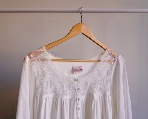 100% Cotton + Lace Nightgown