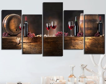 Wine Lovers Canvas Set, Wine Wall Decor, Wine Barrel Decor, Wine Bottle  Decor, Wine Enthusiast Decoration, Wine Print Wall Decor, Wine Gift