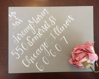 adressage enveloppe / / main calligraphie alphabétiques / / enveloppes de mariage / / custom invitations