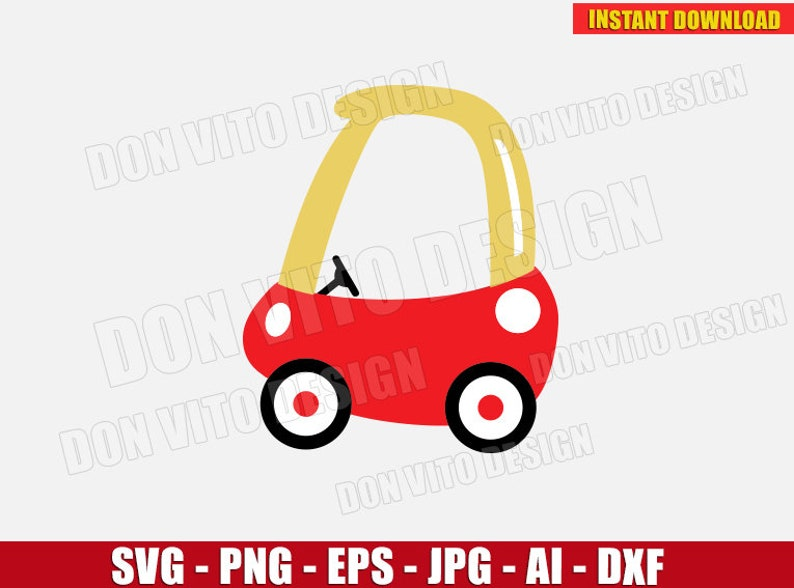 Cozy Coupe Svg Dxf Png Mini Small Kids Toy Car Ride Cut Etsy