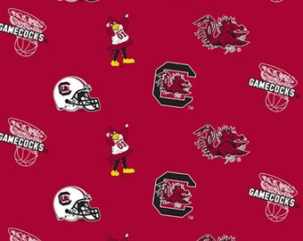 Pack of 4 NCAA South Carolina Gamecocks Vinyl Coaster Set