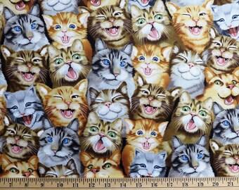 Scribbled Cats Fabric fat quarters 100/% cotton Timeless Treasures Cat.C6542 milk