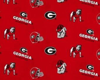 98de74fc0a5 Georgia Bulldogs NCAA GA Allover 43 inches wide 100% Cotton Fabric GA-045