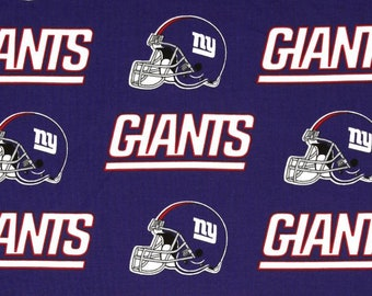 New York Giants NFL Helmet   Name Design 58-60 inches wide 100% Cotton  Fabric NFL-6314D ced5a381d