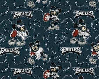 5b5adb47 Philadelphia Eagles NFL Disney Mickey Mouse Mash-up 44 inches wide 100%  Cotton Fabric NFL-70195-D