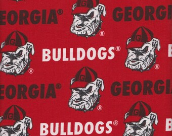 b1057d9c0e4 Georgia Bulldogs NCAA GA Twill Canvas 58-60 inches wide Fabric GA-250