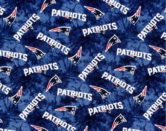 New England Patriots NFL Tie Dye Design 42 inches wide FLANNEL Fabric NFL -14868 6fe45f041