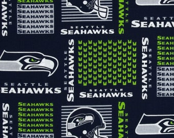 Seattle Seahawks NFL Block Design 58-60 inches wide 100% Cotton Fabric NFL -6470D 4463a9a92