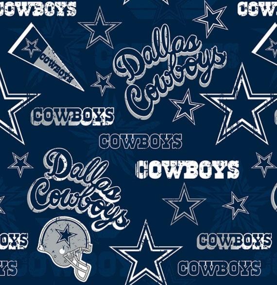 Dallas Cowboys NFL New Retro Design 58-60 inches wide 100%  9692b4a64