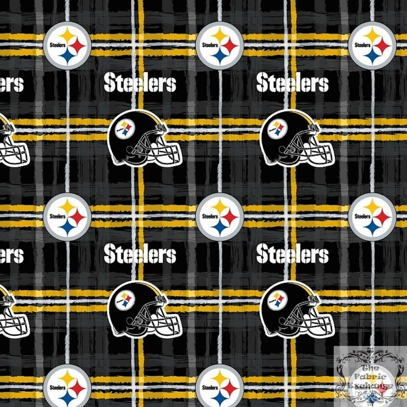 a0617aaa Pittsburgh Steelers NFL Plaid Design 42 inches wide FLANNEL Fabric NFL-6431D