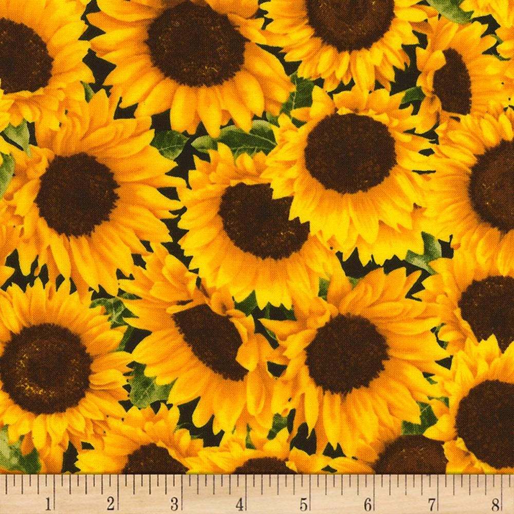 Sunflower Farm Packed Sunflowers 24 X 44 Inches Panel By