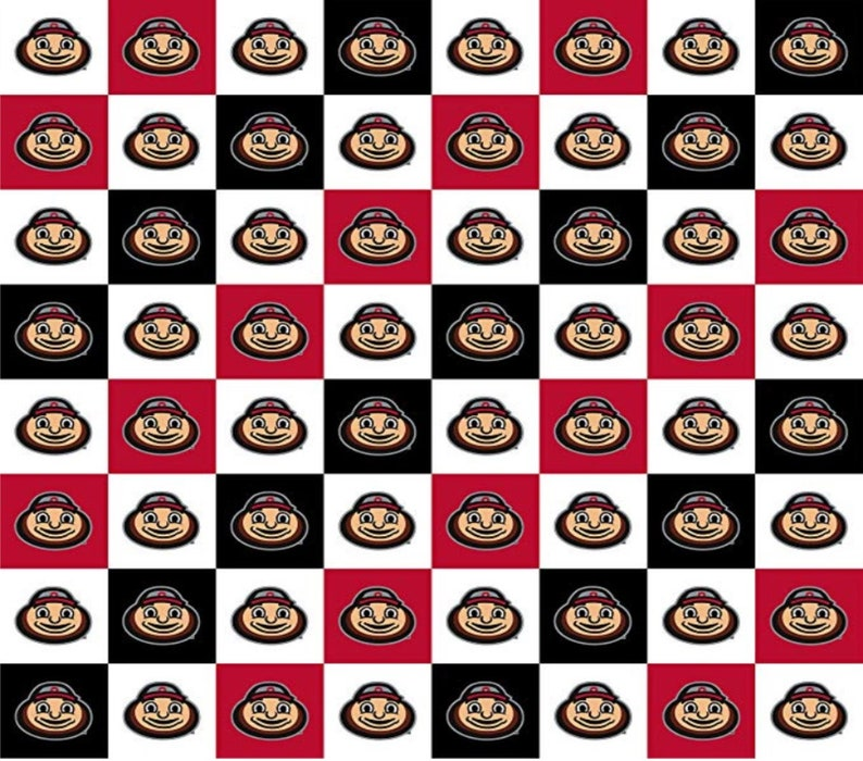 Ohio State Buckeyes NCAA New Mini Check Design 43 inches wide 100/% Cotton Fabric OHS-1158